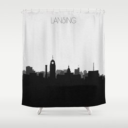 City Skylines: Lansing Shower Curtain