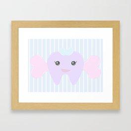Boney Tooth Framed Art Print