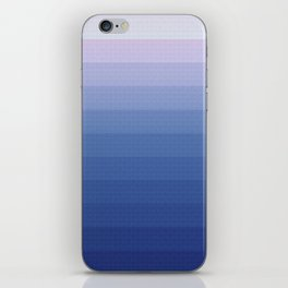 White and blue 2 iPhone Skin