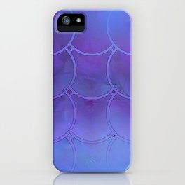 Mermaid Scales Purple and Blue iPhone Case