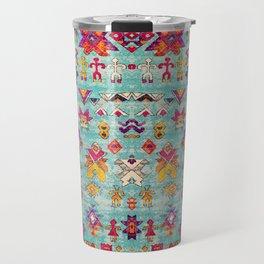 N178 - Antique Oriental Traditional Berber Bohemian Moroccan Style  Travel Mug