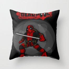 Teenage Mutant Ninja Deadpool Throw Pillow
