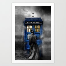 Tardis doctor who lost in the Mist apple iPhone 4 4s 5 5s 5c, ipod, ipad, pillow case and tshirt Art Print