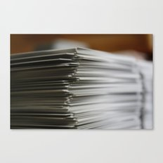 Stack of Cards Canvas Print