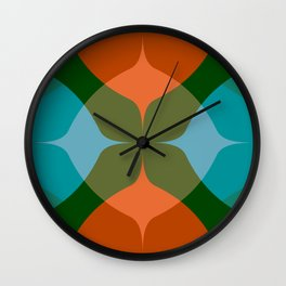Modern Groove - Biscay Green Wall Clock