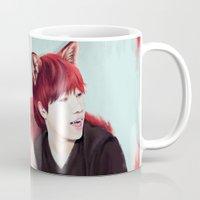 kpop Mugs featuring Fox Gyu by Nikittysan