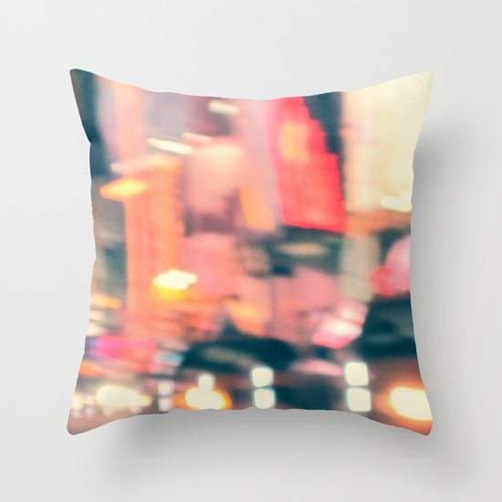 NY Lights Throw Pillow