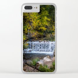Falls in the Spearfish Canyon area Clear iPhone Case