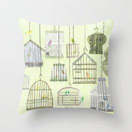 Bird cages Throw Pillow