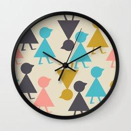 Follow Me in Beige Wall Clock