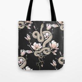 Magnolia and Serpent Tote Bag