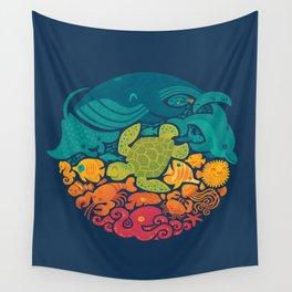 Aquatic Rainbow Wall Tapestry