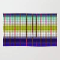grid Area & Throw Rugs featuring GRID by Tatiana Couto