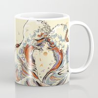 waves Mugs featuring The Wave of Love by Huebucket