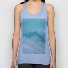Geode Crystal Turquoise Blue Unisex Tank Top