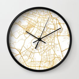 NEW DELHI INDIA CITY STREET MAP ART Wall Clock