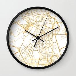 NEW DELHI INDIA CITY STREET MAP ART Wall Clock
