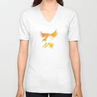 phoenix V-neck T-shirts featuring Phoenix by Dale J Cheetham