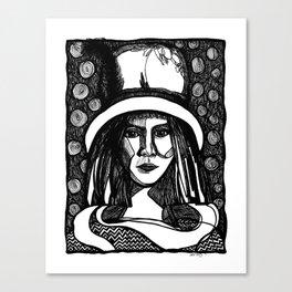 hat lady Canvas Print