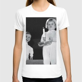 Creepy Ventriloquist Dummies that look like they might want to kill you black and white photography T-shirt