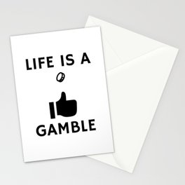 Gambling With A Coin Stationery Cards