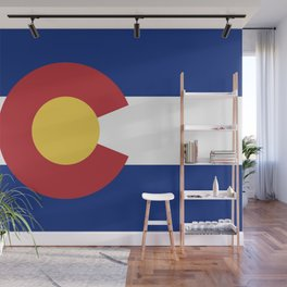 Blue Red and Gold Flag of Colorado Wall Mural
