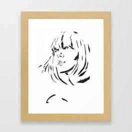Modeled Pixie Framed Art Print