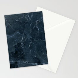 Dark blue marble texture Stationery Cards