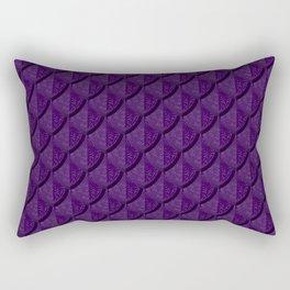 Elegant Purple Dragon Scale Rectangular Pillow