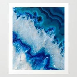 Royally Blue Agate Art Print