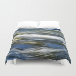 Waves Abstract Duvet Cover