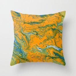 Topographie concepteur 1 portrait version Throw Pillow