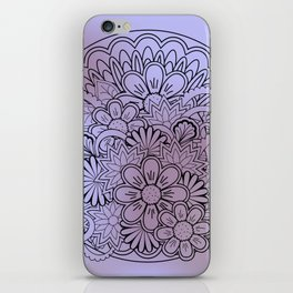 floral composition in mandala iPhone Skin