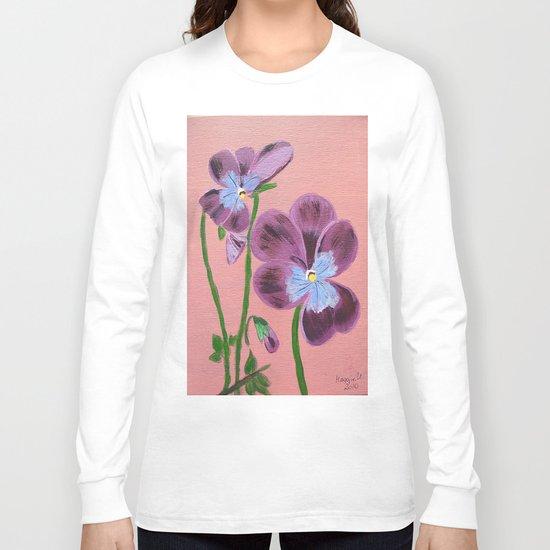 Purple pensies  Long Sleeve T-shirt