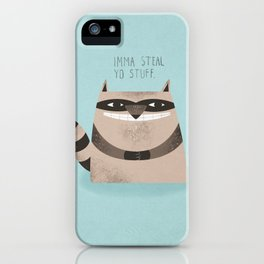 Sneaky Raccoon iPhone Case