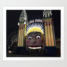 Luna Park Art Print
