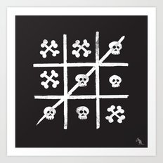 Skull + Bones Art Print