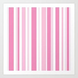 Pink Stripes Art Print