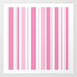 Pink Stripes Art Print