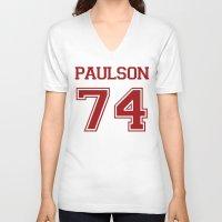sarah paulson V-neck T-shirts featuring Sarah Paulson Varsity by NameGame