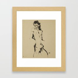 Egon Schiele (1890-1918) - Nude Study - Vienna Secession - Klimt Framed Art Print