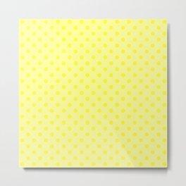 Polkadot Dandelion Yellow Metal Print