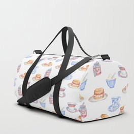 British Cream Tea Pattern Duffle Bag