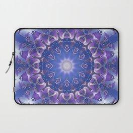 Deep Blue and Purple Fractal Mandala Laptop Sleeve