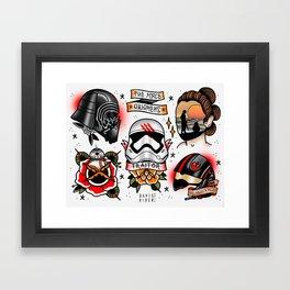 Force Awakens Tattoo Flash sheet Framed Art Print