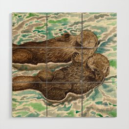 Sea Otters Wood Wall Art