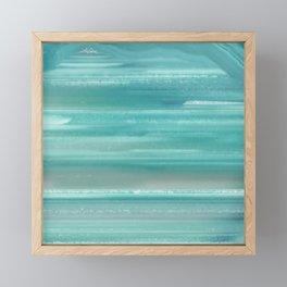 Turquoise Geode Framed Mini Art Print