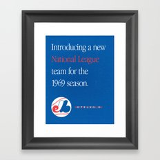 Montreal Expos Advertisement Framed Art Print