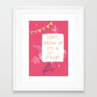 neverland Framed Art Prints featuring Neverland by Little Joy Designs