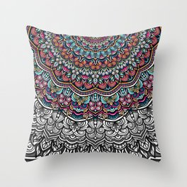 Colorful mandala Sophisticated ornament Throw Pillow